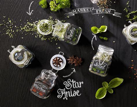 chalkboard spice labels market fresh