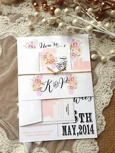 rustic wedding invitation suite unique custom designed With unusual rustic wedding invitations