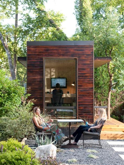Backyard Offices by Tiny Backyard Home Office With Deck And Table 2015 Fresh