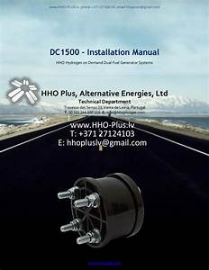 Hydroghen Generator Installation Manual