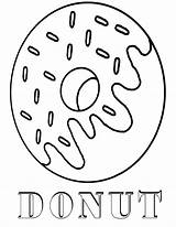 Donut Coloring Pages Printable Print Food sketch template