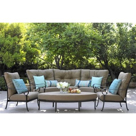 darlee patio furniture santa darlee santa 6 patio sofa set in antique