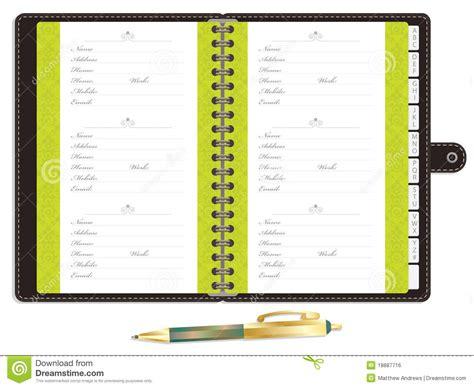 blank address book royalty  stock image image