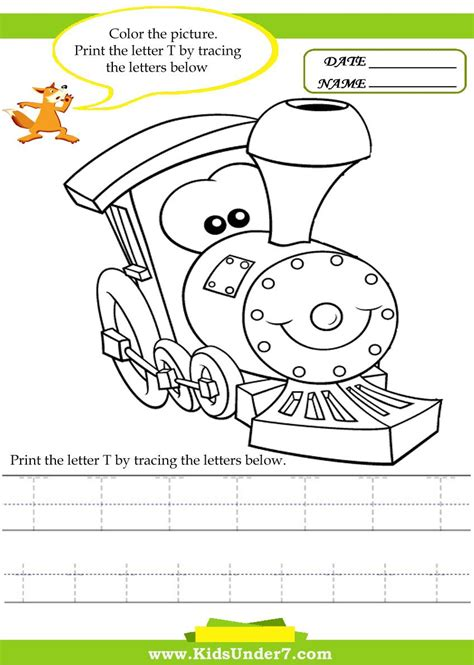 alphabet worksheets trace and print letter t traceable