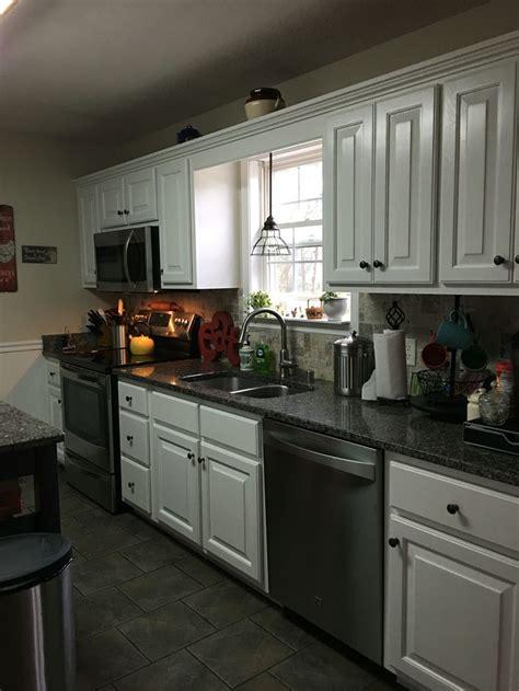 kitchen makeover golden oak  white cabinets kitchen