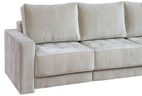 sofa de veludo sof 225 prennas retr 225 til veludo bege 3 lugares sala home