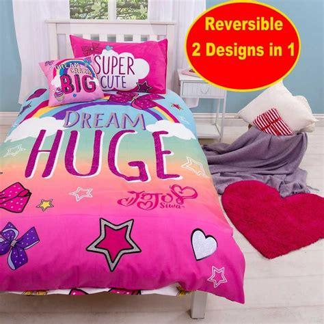 jojo siwa   big bow single duvet quilt cover set
