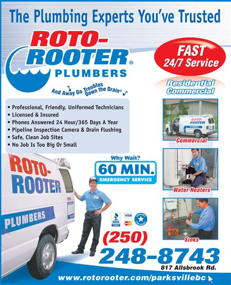 roto rooter plumbing drain services roto rooter sewer drain cleaning service parksville