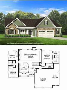 Home Plans With Photos Of Inside And Outside At The Center ...
