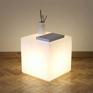 cube lit table by one foot taller notonthehighstreetcom With 5 cube table lamp