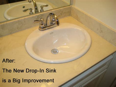 Install Overmount Bathroom Sink by Replace The Sink In A Cultured Marble Countertop