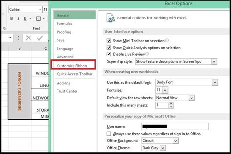 excel tabs groups custom commands adding microsoft