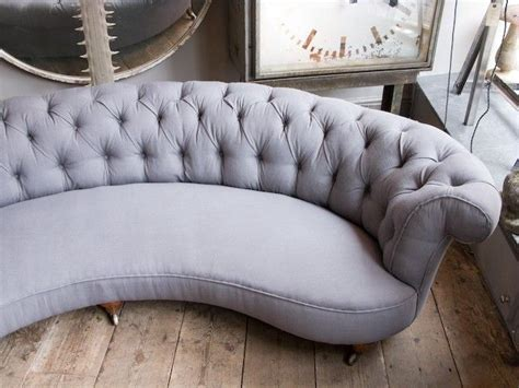 Curved Grey Sofa  For The Home Pinterest