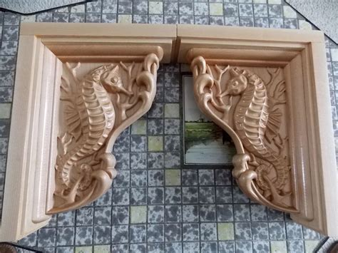 Corbels And Shelves by Seahorse Wood Shelf Brackets Seahorse Corbel Wooden Shelf