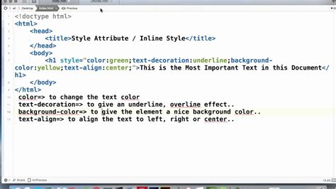 html style color html inline style style attribute tutorial
