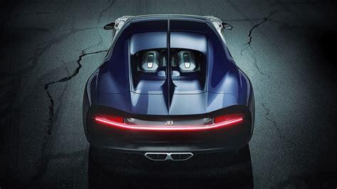 bugatti chiron sport rear view   wallpaper hd car