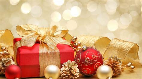 christmas gift box and decorations hd wallpaper wallpaperfx