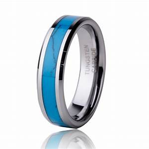 free shipping 5mm turquoise ring tungsten carbide men With turquoise wedding rings for women