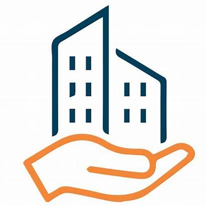 Management Services Maintenance Estate Icons Clear Rock