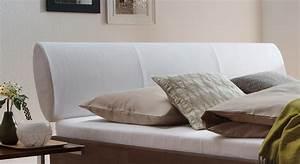 Bett Mit Gepolstertem Kopfteil : bett aus buche massiv mit wei em leder kopfteil nuno ~ Sanjose-hotels-ca.com Haus und Dekorationen