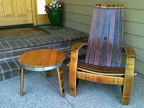 woodwork rocking chair wine barrel furniture plans  plans