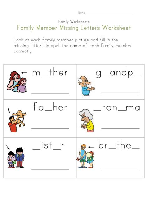 family worksheets  family worksheet