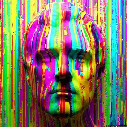 Glitch Rainbow Gifs Giphy Aesthetic Hop 8tracks