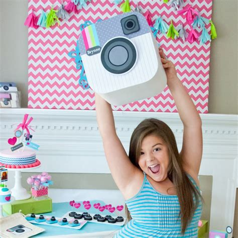 Insta Party Teen Tween Birthday Party Customized Camera Face