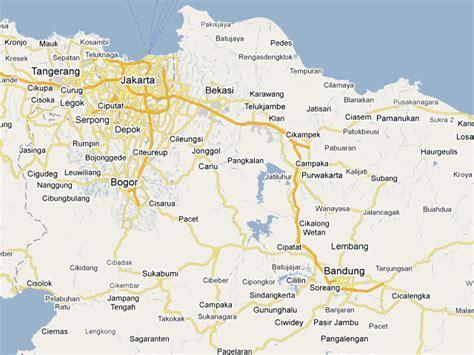map bandung jakarta