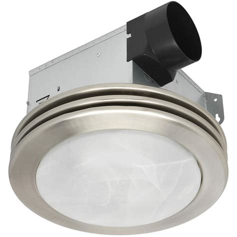 bathroom ceiling heat ls shop utilitech 2 sone 80 cfm brushed nickel bathroom fan