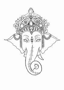 Ganesh Outline Tattoo Simple ganesha tattoo | Christmas ...