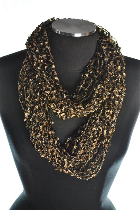net infinity scarf blackgold