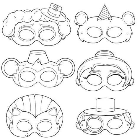 clown mask template circus printable coloring masks clown mask mask monkey ringmaster costume circus