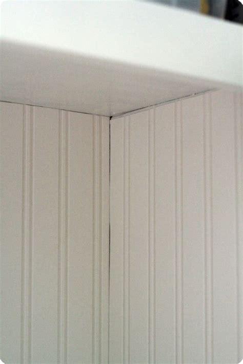 beadboard wallpaper   caulk  hide  uneven