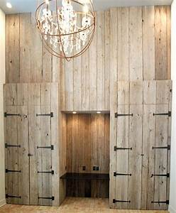 reclaimed barn board accent wall rustic living room With barn board accent wall