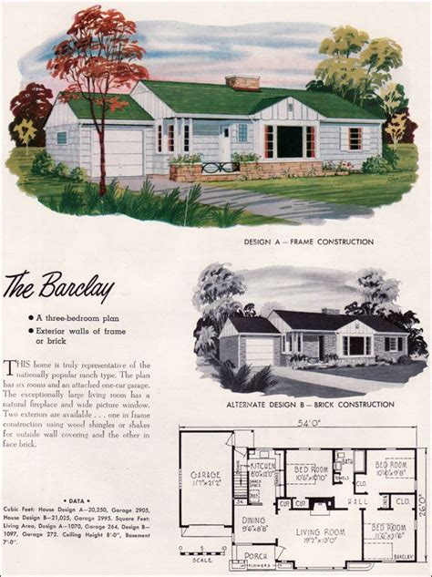 mid century modern house plans  national plan