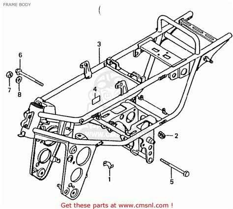 honda ct50jc motra japan frame schematic partsfiche