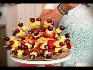 Brochetas de fruta con miel de palma YouTube