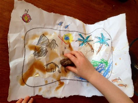homemade treasure map treasure map kids craft treasure