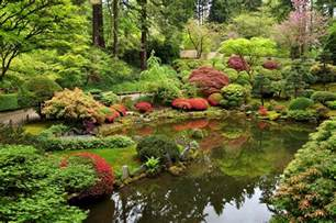Benches Around Trees by Portland Japanese Garden Botanic Garden In Portland