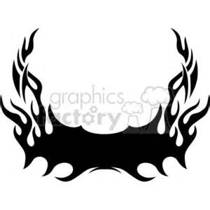 royalty  tattoo flames   vector clip art image