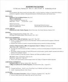 basic resume sles for college students sle resume for college student 10 exles in word pdf