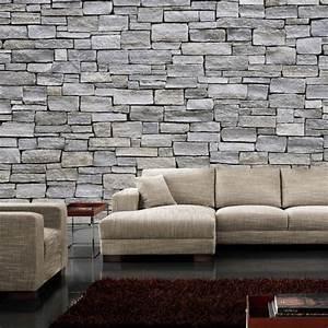 Mauer Wand Wohnzimmer : steintapete grau ~ Lizthompson.info Haus und Dekorationen
