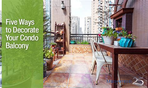 five ways to decorate your condo balcony megaworld at