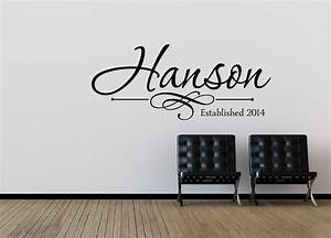 family name wall decal personalized family wall decal last With personalized wall decals