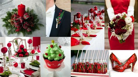 christmas inspired red green theme wedding wedding