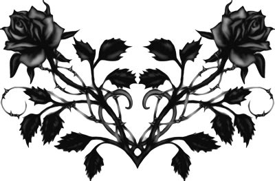gothic rose psd vector graphic vectorhqcom