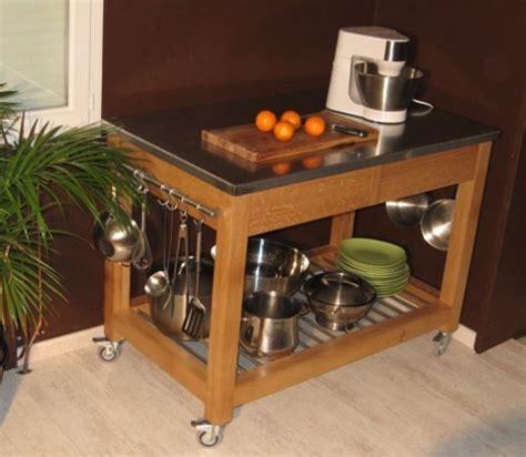 ilot de cuisine mobile ambiance cuisine meubles contarin