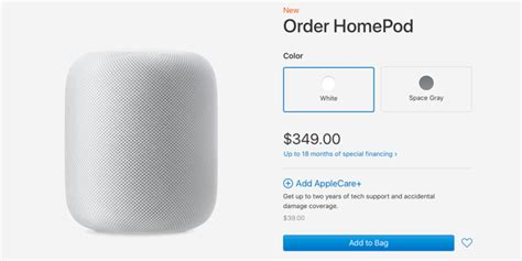 homepod applecare costs  accidental damage