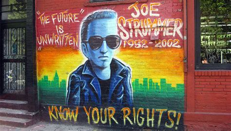 Joe Strummer Mural New York City by 10 Great Cover Songs By Joe Strummer Of The Clash